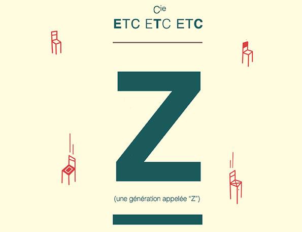 Visuel du spectacle Génération Z - Spectacle de la Compagnie Etc etc etc